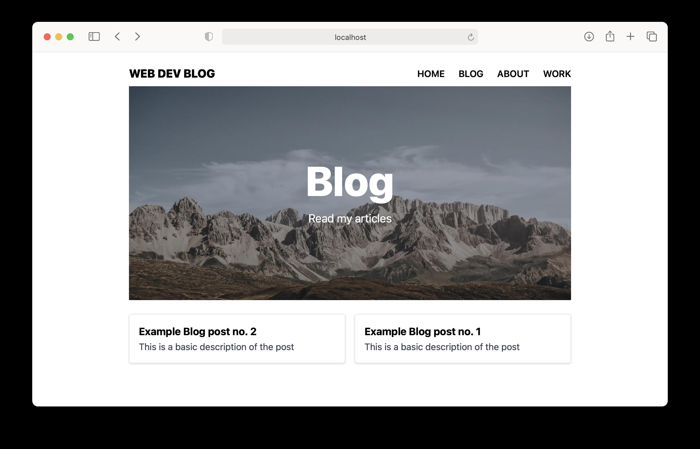 Blog List Screenshot